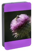 Nancy's Novelty Photos on Pixels Products Bee On Thistle Portable Battery Charger