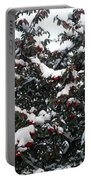 Berries And Snow Portable Battery Charger
