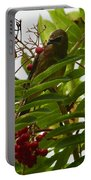 Berries And Waxwing Portable Battery Charger