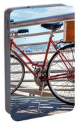 Bicycle At The Beach Portable Battery Charger