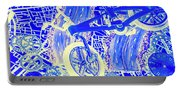 Biking Blue Portable Battery Charger
