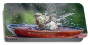 Bird In A Bath Portable Battery Charger