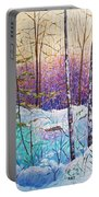 Birds Hill Trail Winter Walk Portable Battery Charger by Joanne Smoley