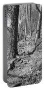 Black And White Mountain Trail Portable Battery Charger