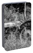 Black And White Tractor Portable Battery Charger
