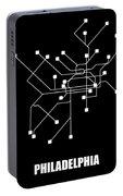 Black Philadelphia Subway Map Portable Battery Charger