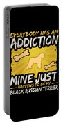 Black Russian Terrier Funny Dog Addiction Portable Battery Charger