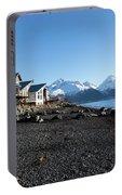 Black Sand Beach In Seward Alaska Portable Battery Charger