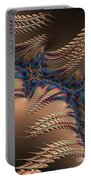 Blue And Copper Lightening At Night Fractal Abstract Portable Battery Charger by Rose Santuci-Sofranko