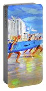 Blue Board Fast Into Ocean Portable Battery Charger