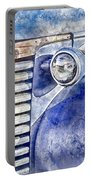 Blue Gmc Truck Portable Battery Charger by Brad Allen Fine Art