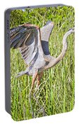Blue Heron On The Rise Portable Battery Charger