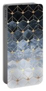 Blue Hexagons And Diamonds Portable Battery Charger