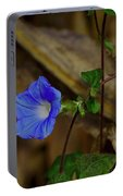 Blue Morning Glory Portable Battery Charger