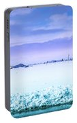 Blue Sky, White Field Portable Battery Charger
