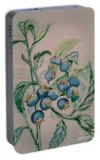 Blueberries At Lake Pickerel Portable Battery Charger