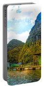 Boat People Homes On Gulf Of Tonkin Ha Long Bay Vietnam Portable Battery Charger