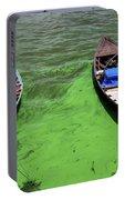 Boats On Algae, In Santarem, Brazil. Portable Battery Charger