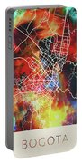 Bogota Colombia Watercolor City Street Map Portable Battery Charger