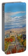 Boise In Fall Portable Battery Charger by Dart and Suze Humeston