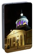 Bonsecours Market At Night In Old Montreal Portable Battery Charger