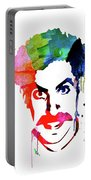 Borat Watercolor Portable Battery Charger