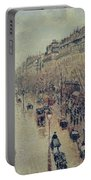 Boulevard Montmartre - Afternoon, In The Rain, 1897 Portable Battery Charger