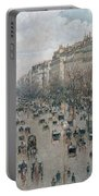 Boulevard Montmartre - Afternoon, Sunlight, 1897 Portable Battery Charger
