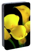 Bouquet Of Yellow Calla Lilies Portable Battery Charger