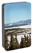 Bove Island On Windy Arm In Tagish Lake Yukon Portable Battery Charger