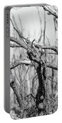 Branches In Black And White Portable Battery Charger
