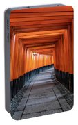 Bright Orange Torii Gates In Kyoto, Japan Portable Battery Charger