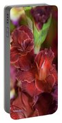 Brown Jewel 5. The Beauty Of Gladiolus Portable Battery Charger