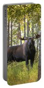 Bull Moose In Fall Forest Portable Battery Charger