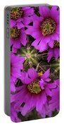 Burst Of Fuchsia Cactus Flowers Portable Battery Charger