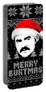 Burt Reynolds Christmas Shirt Portable Battery Charger