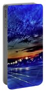 Bus Stop Sunrise Portable Battery Charger