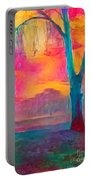 Bush Sunset  Portable Battery Charger by Chris Armytage