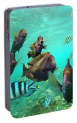 Butterflyfish And Sergeant Major Portable Battery Charger