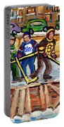 Calgary Flames Ottawa Sens Toronto Leafs Canadiens Oilers Boston Bruins Hockey Art Outdoor Rinks Portable Battery Charger