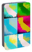 California Pop Art Panels Portable Battery Charger