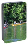 Canoeing On The Rideau Canal In Newboro Channel Ontario Canada Portable Battery Charger