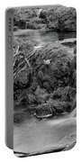Cascades In A Peaceful Creek Scenery Portable Battery Charger