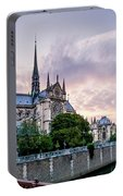 Cathedral Of Notre Dame From The Bridge - Paris France Portable Battery Charger