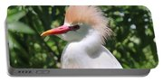 Cattle Egret Profile Portable Battery Charger
