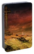 Celtic Cross Llanddwyn Island Portable Battery Charger