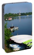 Chambly Basin And The Church Of St Joseph In Quebec Portable Battery Charger