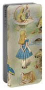 Characters From Alice In Wonderland  Portable Battery Charger