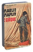 Charlie Chaplin Dans Le Cirque - Vintage Advertising Poster Portable Battery Charger