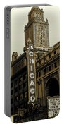 Chicago Cinema Theater - Vintage Photo Art Portable Battery Charger